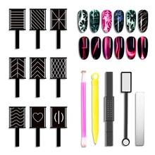 Nail Art oeil de chat aimant bâton pour UV oeil de chat Gel vernis bâtons magnétiques stylo manucure outils Kit