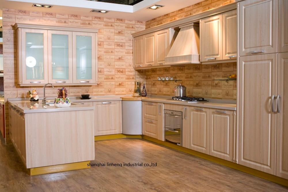 PVC/vinyl kitchen cabinet(LH-PV074) pvc vinyl kitchen cabinet lh pv032
