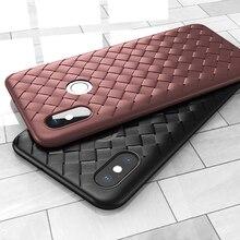 For Xiaomi Mi 8 SE 9 Play A1 A2 Lite Pocophone F1 Redmi Note 5 Plus 6 6A 7 Pro S2 Weave Woven Grid Soft TPU Silicone Cover Case