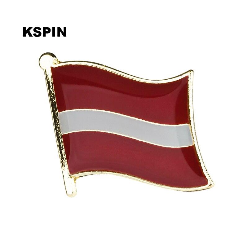 Латвийский Национальный флаг Металлическая Булавка значок декоративная брошь булавки для одежды KS-0098