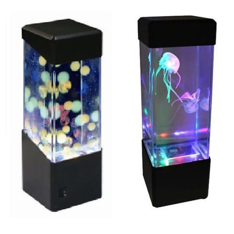 AKDSteel Новый светодиодный Настольный светильник Медузы для аквариума Светодиодная лампа Расслабляющая прикроватная Ночная лампа