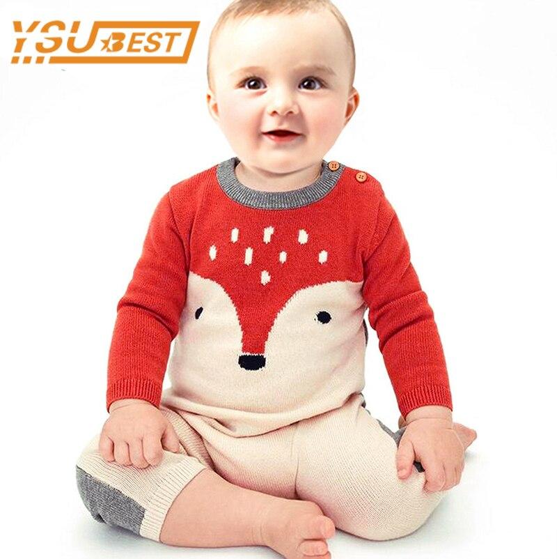 Nuevo 2019 niños niñas mamelucos de bebé de moda mameluco Fox ropa de bebé niña de dibujos animados lindo zorro mono niños traje