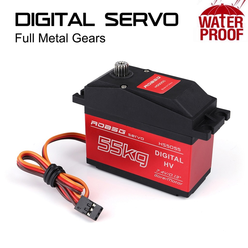 HS5065 180 grados Digital RC Servo 65 KG Torque resistente al agua Metal RC Servo Motor ACCESORIOS juguetes para piezas de niños