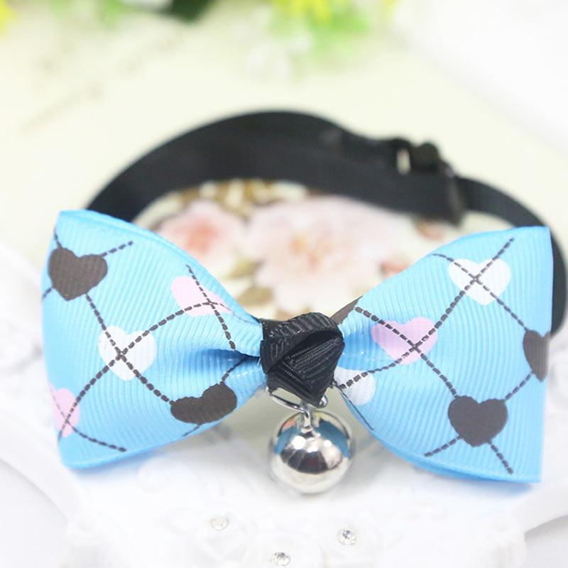 Gato collar con pajarita para perro con campana ajustable corbata cachorro gatito pajarita suministros para mascotas TB venta