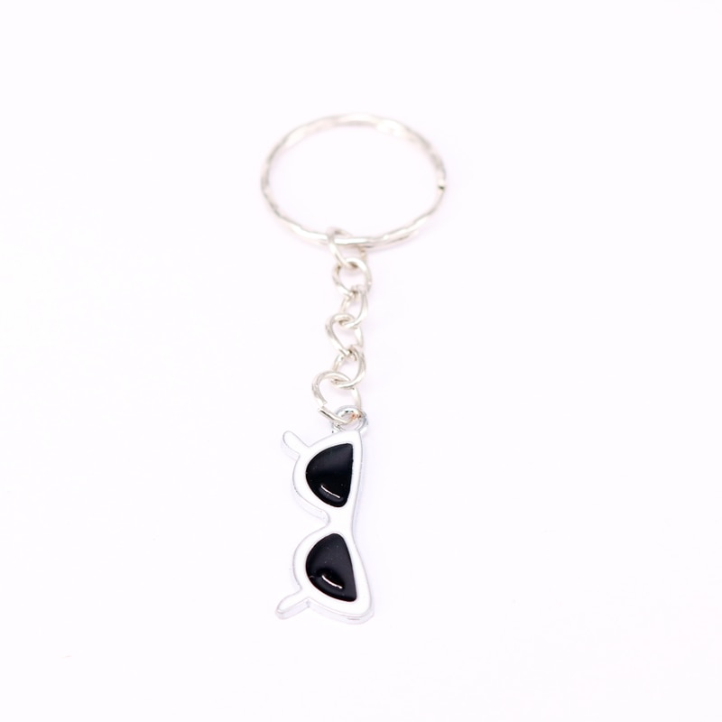 1Pcs Sunglass Charm Keychain For Keys Car Key Ring Souvenir Gifts Couple Handbag Jewelry Accessories