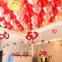 100pcs rains 100pcs pendants balloons rain heart pendant balloon wedding room layout wedding supplies