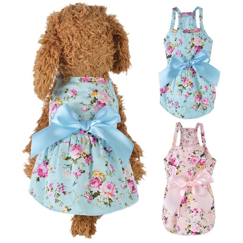 2020New Pet Dog Clothes Dress Sweety Princess Dress Teddy Puppy Wedding Dresses Fot Dog Small Medium Dogs Pet Accessories