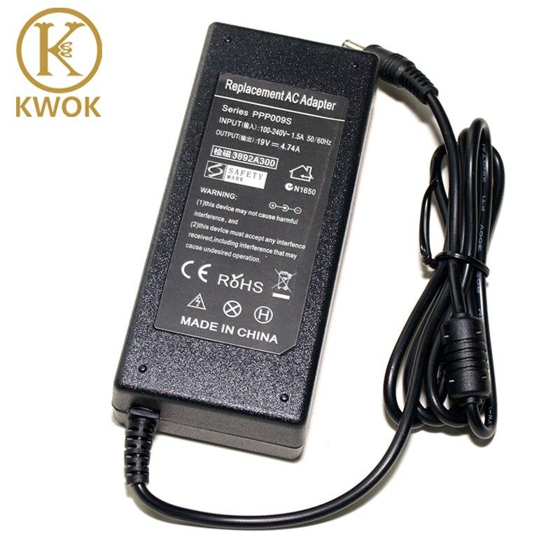 Cargador de repuesto 19V 4.74A 90W AC adaptador cargador de portátil para Toshiba Satellite M310 M330 L800 Notebook fuente de alimentación F25