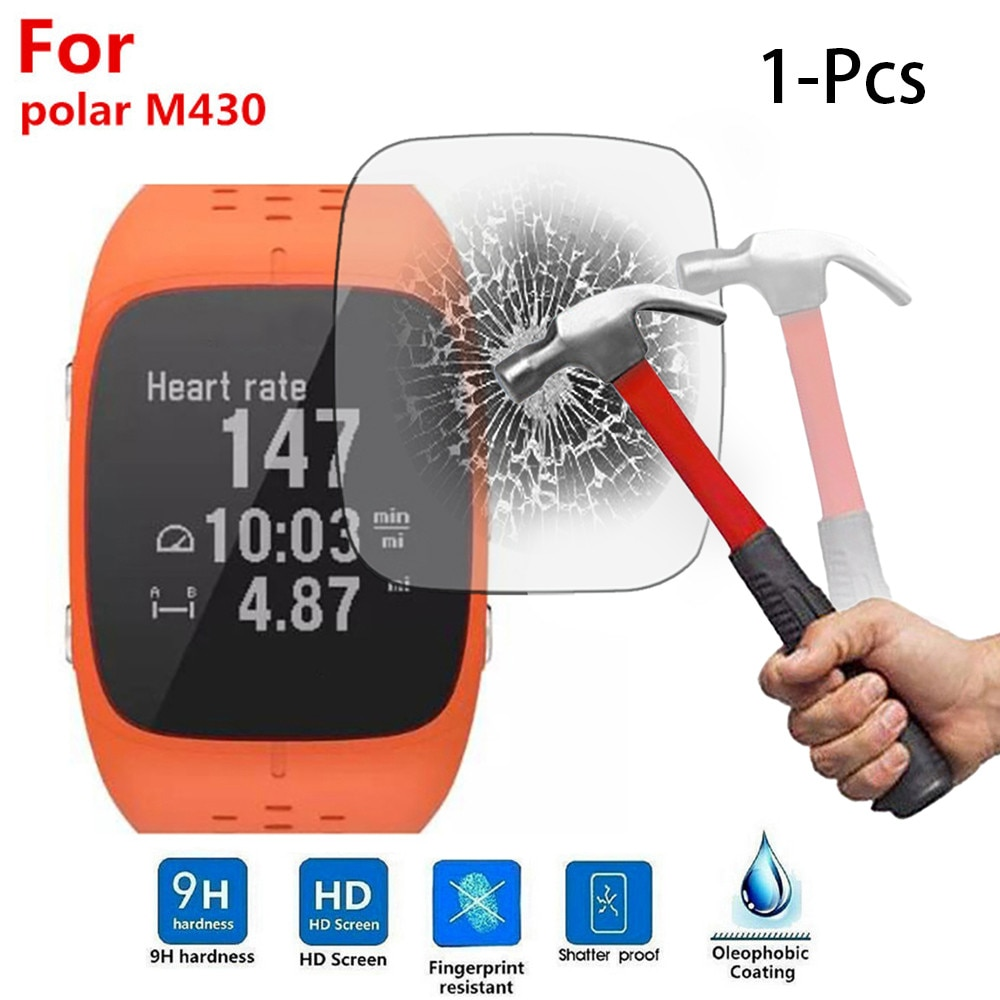 Reloj inteligente SmartWatch Correa Smartband mi band 1 Uds funda para Polar M430 relojes deportivos inteligentes JUN-12A Pantalla de vidrio templado