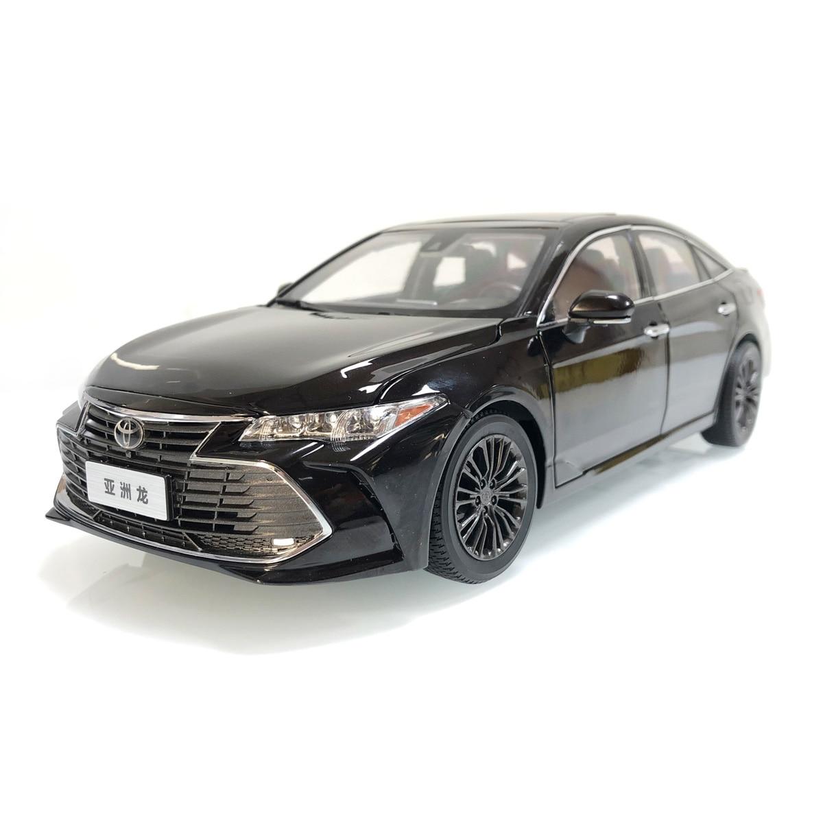 118 modelo fundido a presión para Toyota Avalon 2019 sedán marrón aleación juguete colección de coches en miniatura regalo