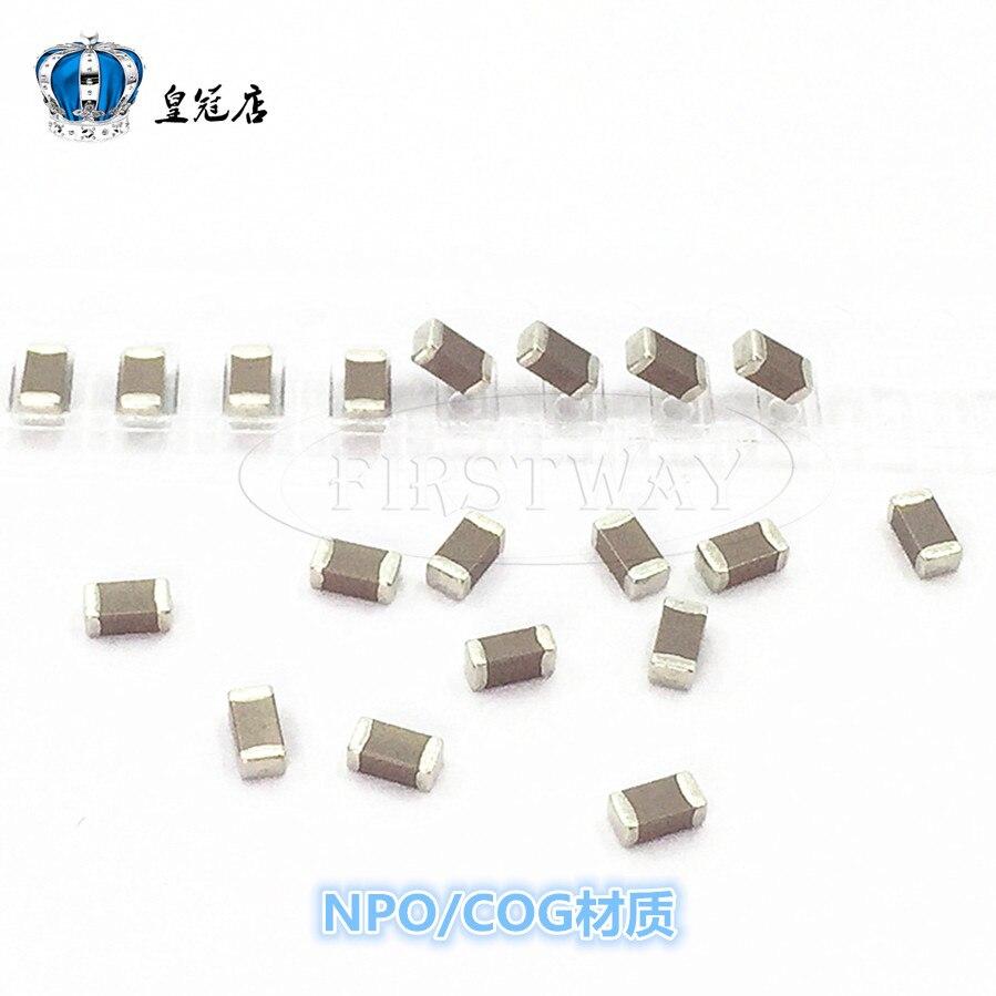 SMD condensador 3216 1206 1NF 102J 1000V 5% de alta frecuencia