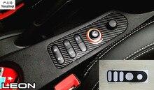 Autocollants de voiture en fiber de carbone   Zone de bouton central pour seat leon cupra