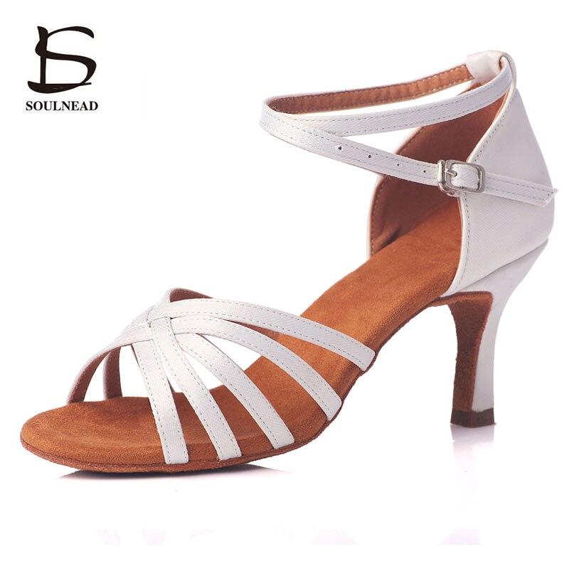 Zapatos de salón de baile latino de suela blanda, zapatos de mujer con tacón de 5cm/7cm, zapatos de baile Profesionales de Tango/Salsa, venta al por mayor, zapatos de señora