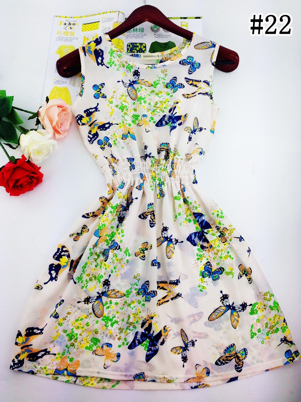 2017 lato jesień nowe koreańskie kobiety dorywczo czeski kamizelka bez rękawów lamparta kwiatów drukowane plaża chiffon dress vestidos wc0344 26