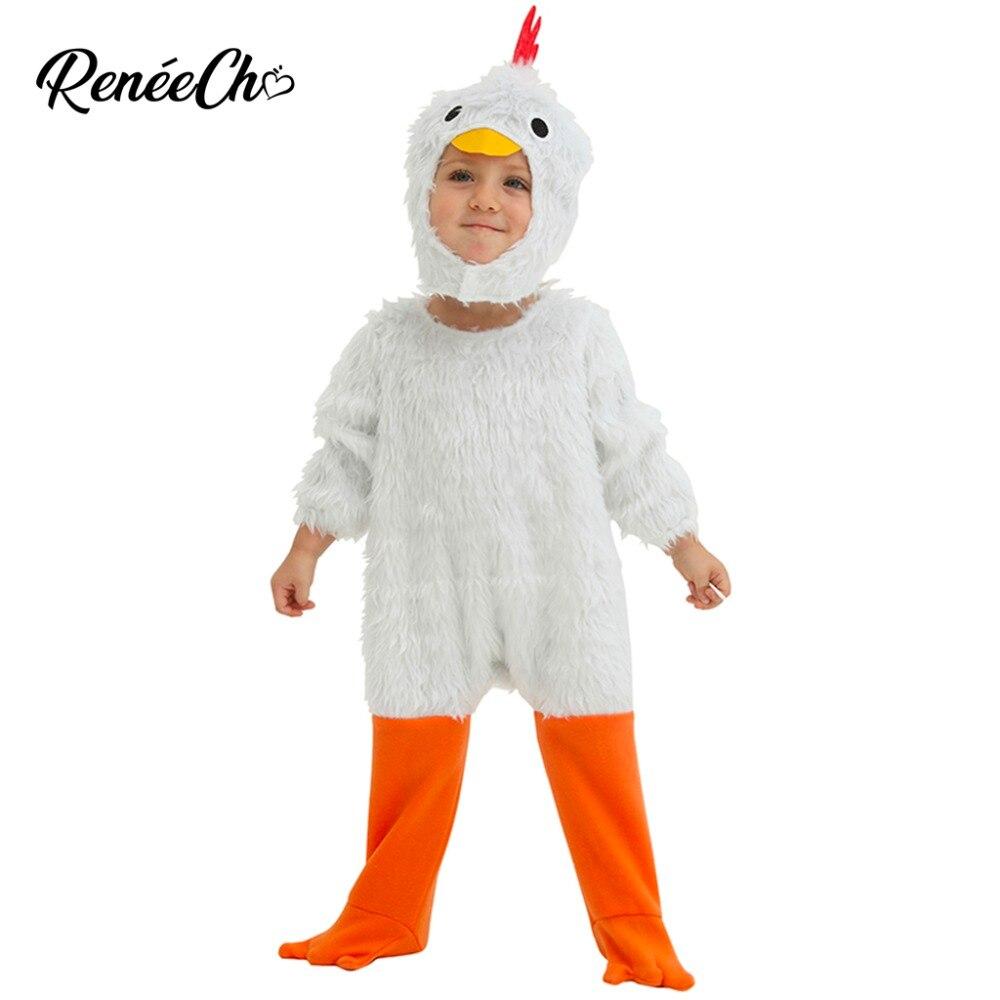 2018, disfraz de gallo blanco para bebés y pollos, mono de piel para niños kigurumi con capucha, disfraz de Cosplay de animales para niños