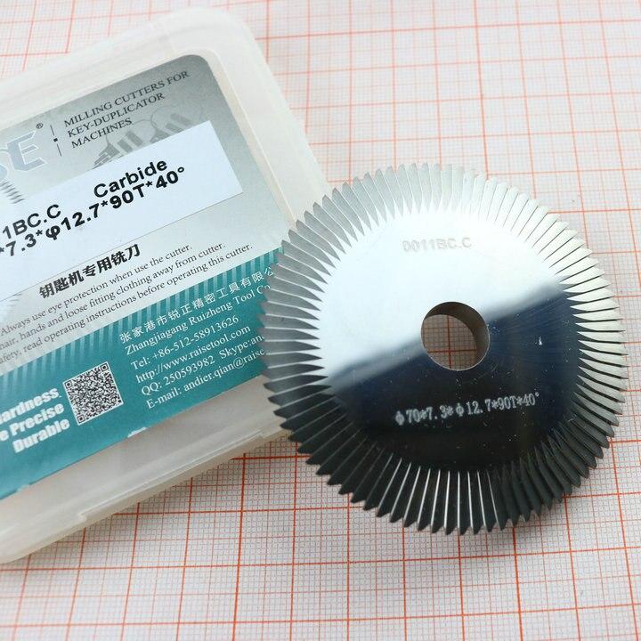 Cortadora de llaves de tungsteno de doble fase 0011BC.C, hoja de sierra 70*7,3*12,7mm * 90 T, cortador de cuchillas para key machine100D, 100E, 100E1, 100F, 100G, 101