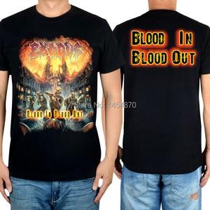 16 designs Horrible Skull Streetwear Exodus Brand t shirt Cotton Punk fitness Hardrock thrash Metal Black shirts skateboard