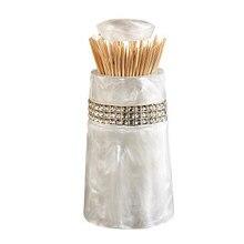 Support automatique maison   Boîte de rangement pour cure-dents de Table, Tandenstoker, support de coton pour décoration, distributeur domestique de cure-dents LY127