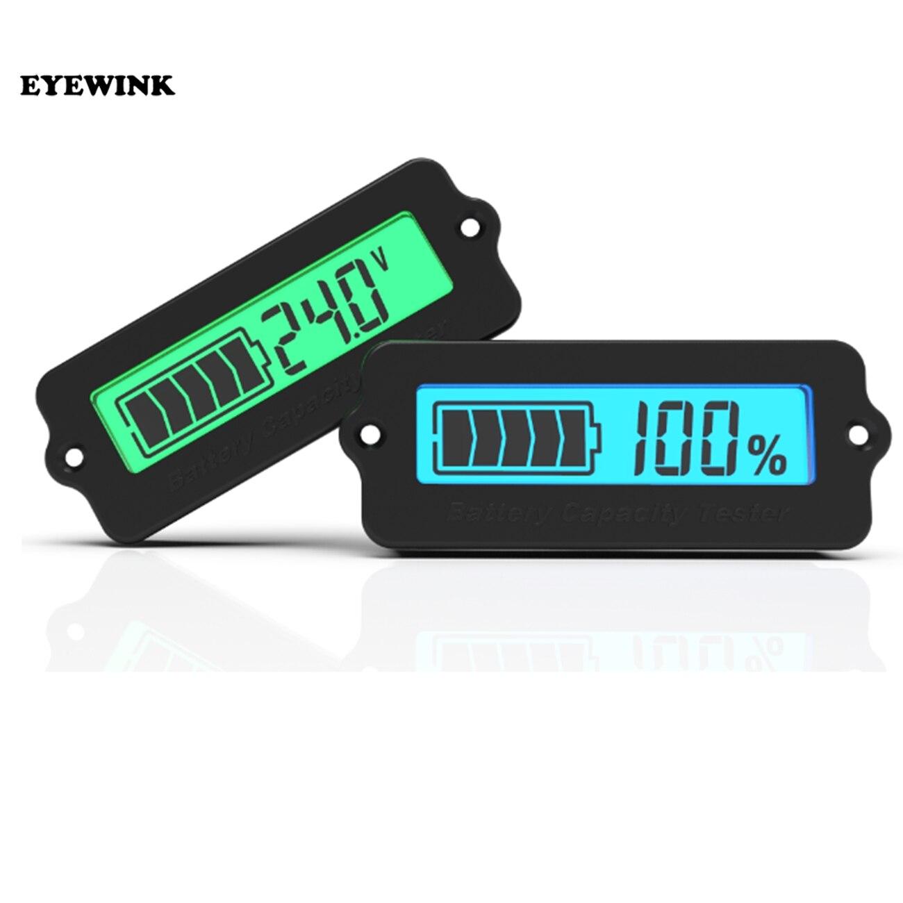 12V LY6W plomo y ácido capacidad de la batería Indicador de azul dígito de LCD pantalla medidor de batería de litio nivel Detector Tester