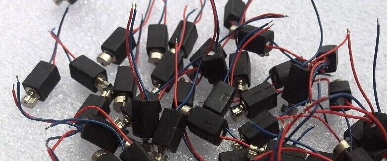Free shipping1000pcs Mini pager Vibrating Vibrator Micro mobile Motor 4mm x 8mm Vibration Pager Motor diameter 4mm