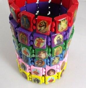 Wholesale 60 pcs Mix colors stretchy Jesus Wood Bracelets Fashion Jewelry