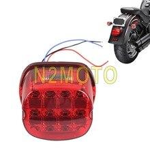 Layback Rote LED Rückleuchten Brems Schwanz Licht LED License Platte Lampe für Harley Sportster XL Dyna FXD FXLR FLH touring 99-17