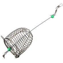 Проволочная клетка для рыболовных приманок из нержавеющей стали, рыболовная приманка, рыболовные принадлежности, маленькая клетка, рыболо...