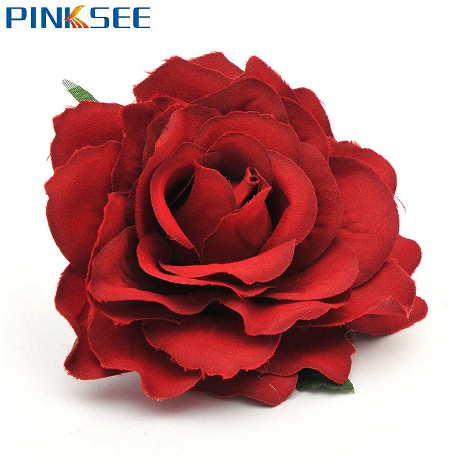 Hermosa Gran flor horquilla con Rosa verano playa Boda nupcial Clip de pelo tocado Pin tocado Accesorios