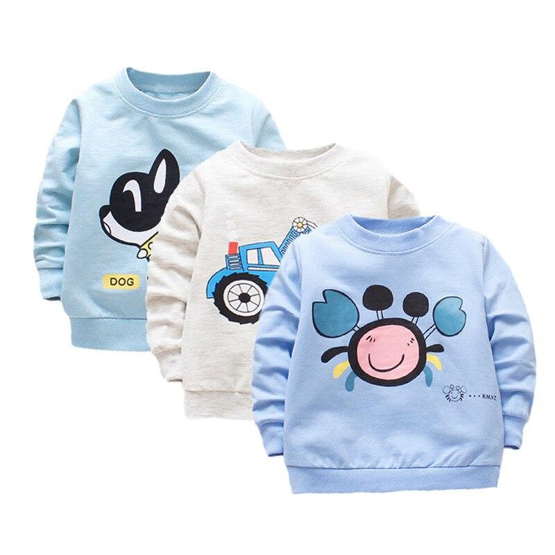 Футболка для маленьких мальчиков, хлопковые повседневные топы с длинными рукавами для маленьких мальчиков, рубашка для новорожденных, футб...