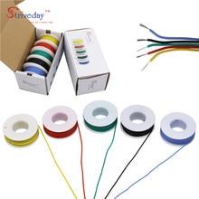 25 m/box 82 ft 18 AWG flexible silikon kabel 5 farbe verzinnt kupfer draht elektronische litze DIY verbindung