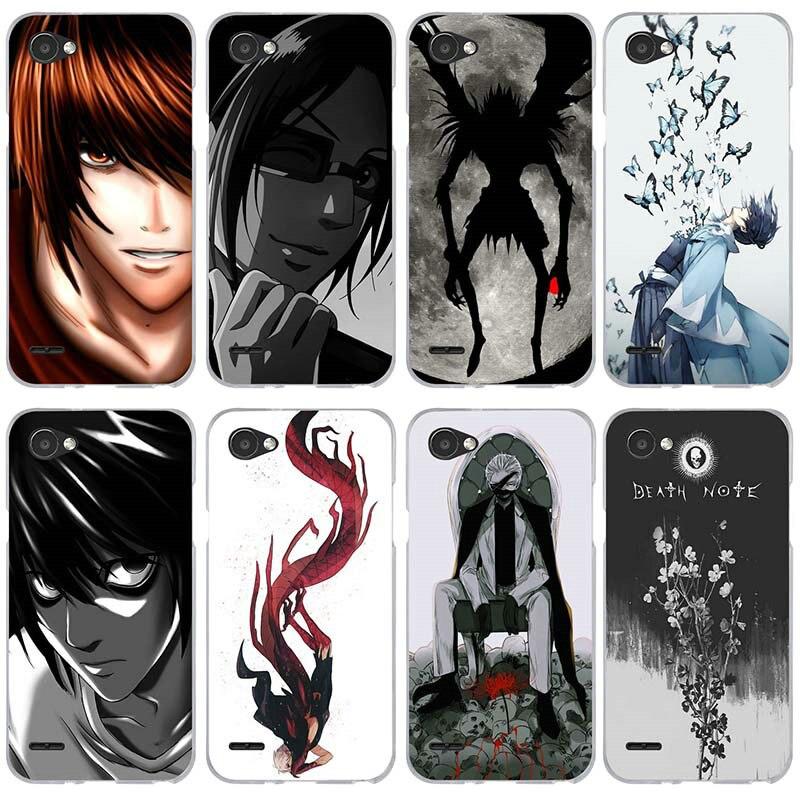 Anime la nota de muerte diseño claro para LG V10 V20 V30 G2 G3 Mini G4 G5 G6 K4 K7 K8 K10 2017 Nexus 5 5X de teléfono TPU suave casos