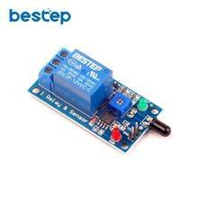 1 kanal 12V Flamme Sensor Modul Feuer Erkennung Feuer Alarm Sensor Relais Modul