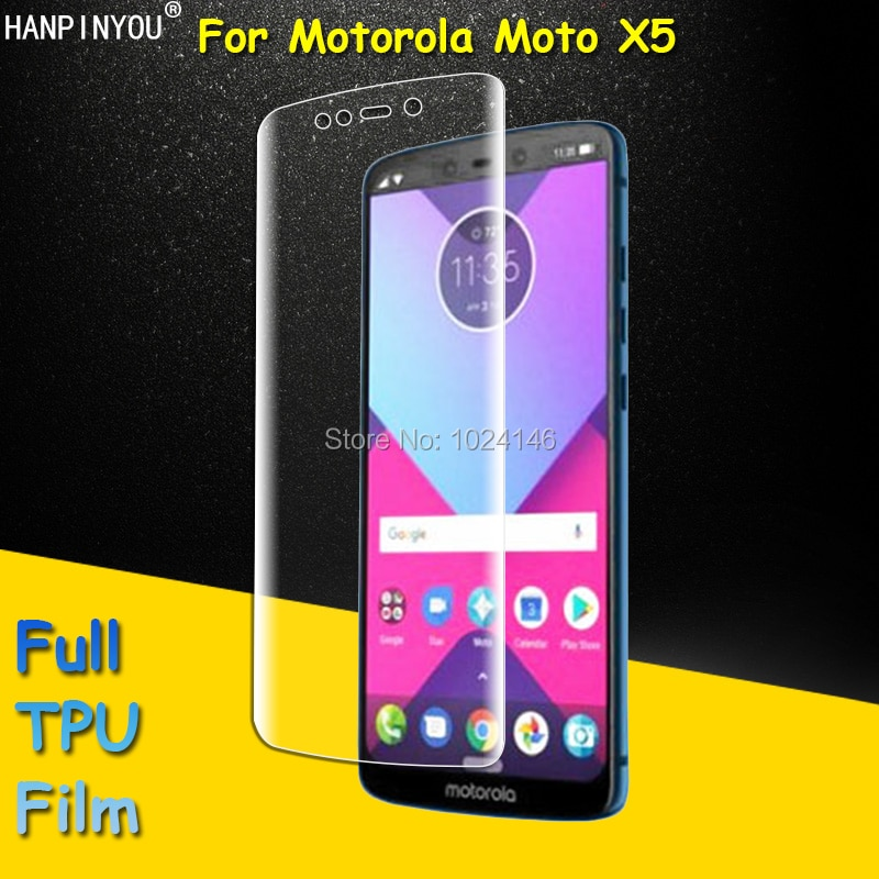 Front Full Coverage Clear Soft TPU Film Screen Protector For Motorola Moto X5 5.9