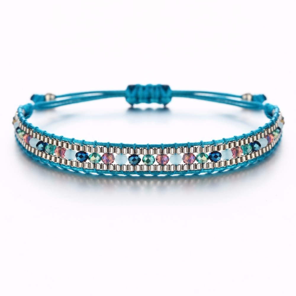 Multi cor boêmio estilo bom sorte charme tibetano pulseiras & bangles para mulher artesanal nós corda pulseira