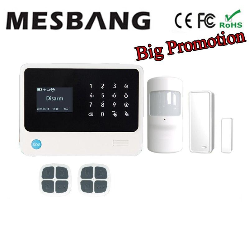 Sistema de alarma GSM, sistema de alarma WiFi, sistema de alarma de seguridad para el hogar inalámbrico con inglés, francés, ruso, español, holandés y APP