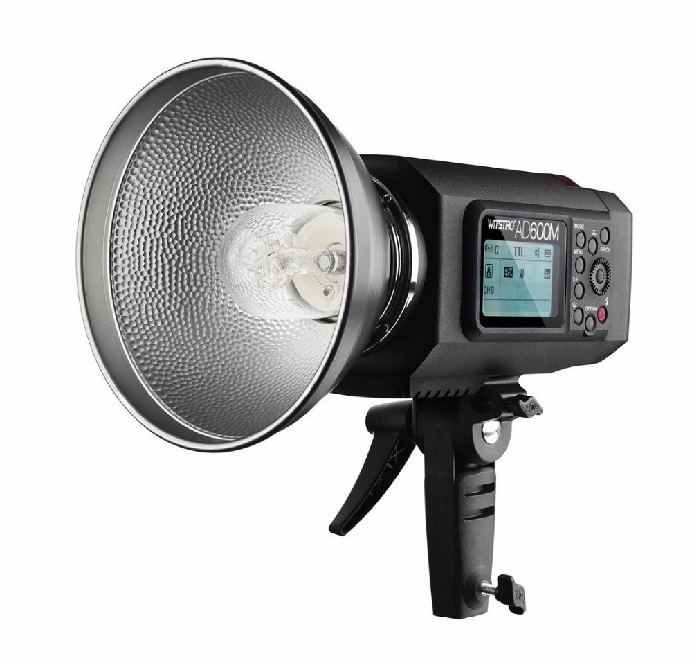 Versión Manual Godox AD600M 600W GN87 HSS 1/8000s al aire libre luz de Flash w/batería de litio de 8700mAh para Canon Nikon Sony DSLR