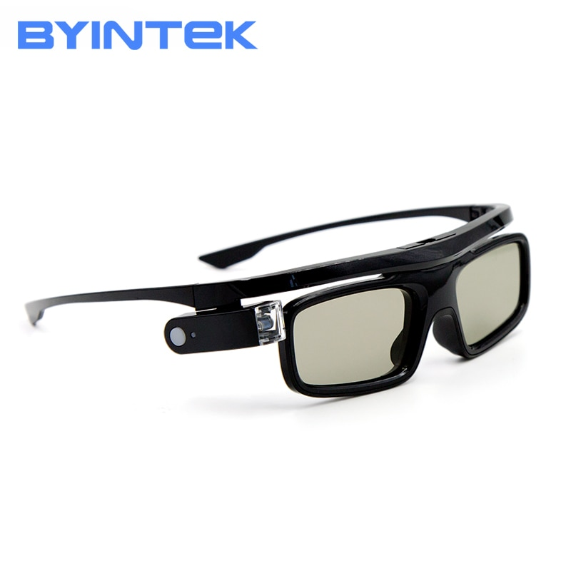 BYINTEK GL1800 3D Glasses, for 3D Projector P12 R19 R15 R9 K5, DLP-Link Active Shutter  Business Meeting Short  focus Cloud K5