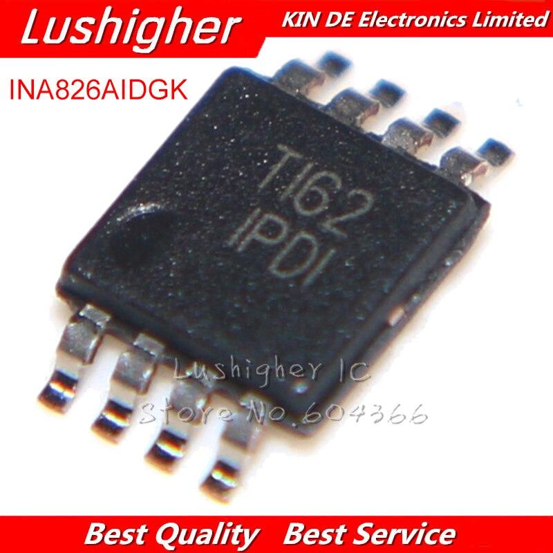 10 قطعة INA826AIDGKR INA826AIDGKT INA826AIDGK INA826 IPDI VSSOP8