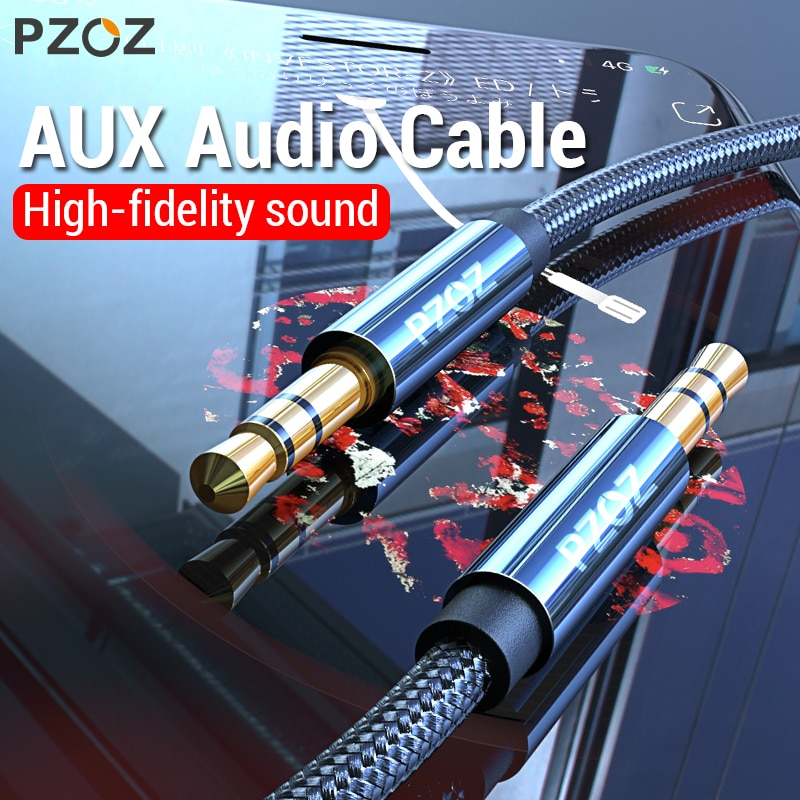 PZOZ AUX кабель Jack 3,5 мм аудио кабель 3,5 мм разъем Акустический кабель для Xiaomi Redmi Note 5 plus Oneplus 5t наушники автомобильный шнур AUX