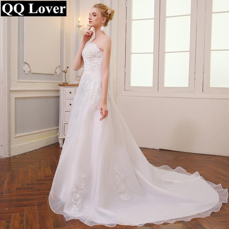QQ عاشق 2019 رخيصة خمر حزام قطار طويل فساتين الزفاف 2019 رداء دي Mariee Sirene Vestidos الزفاف