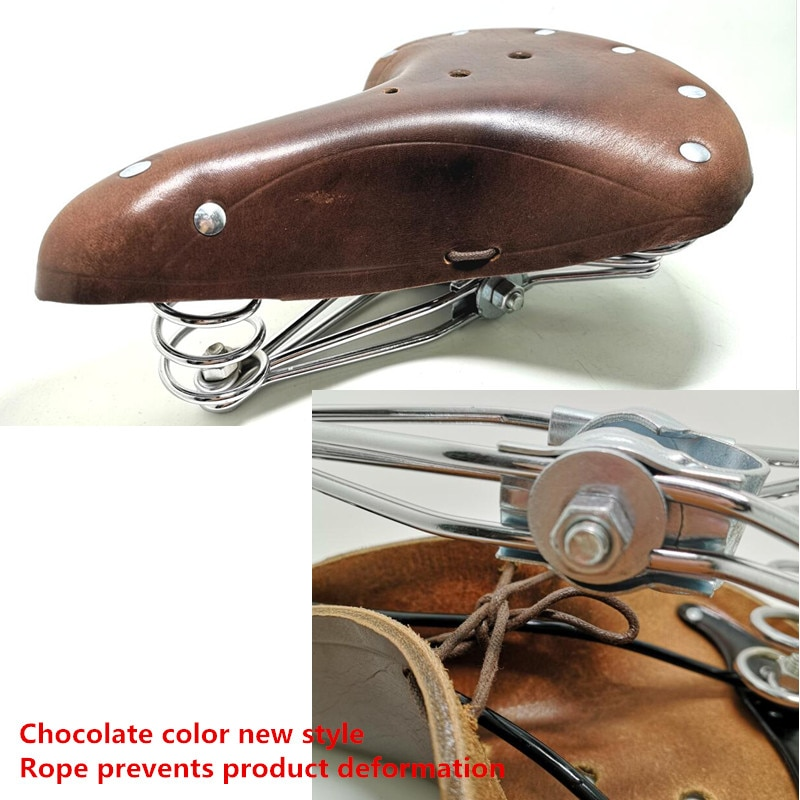 Vintage 2628 bicycle saddle genuine leather old style bicycle spring saddle genuine leather car seat TDX-4