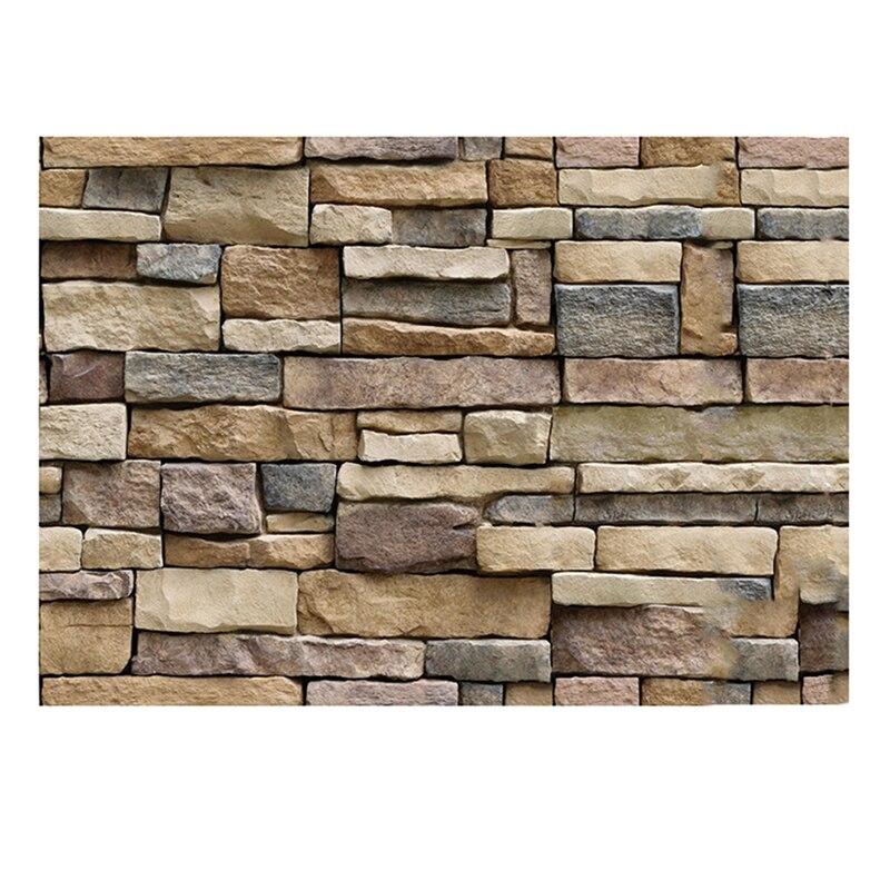 45x100cm decalques de parede decorativos de pedra de tijolo rústico auto-adesivo adesivo de parede decoração de casa papel de parede rolo para a cozinha do quarto
