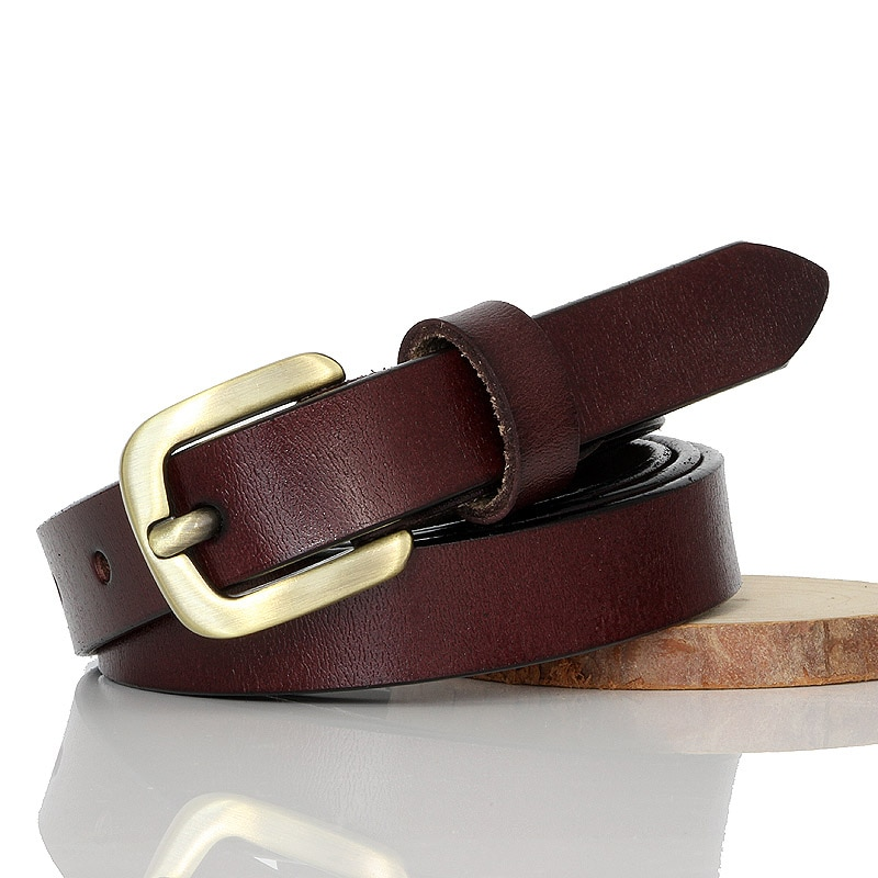 Gfohuo voltar para os antigos pino fivela cinto de couro genuíno para feminino feminino cowskin cintos de couro acessórios de vestuário