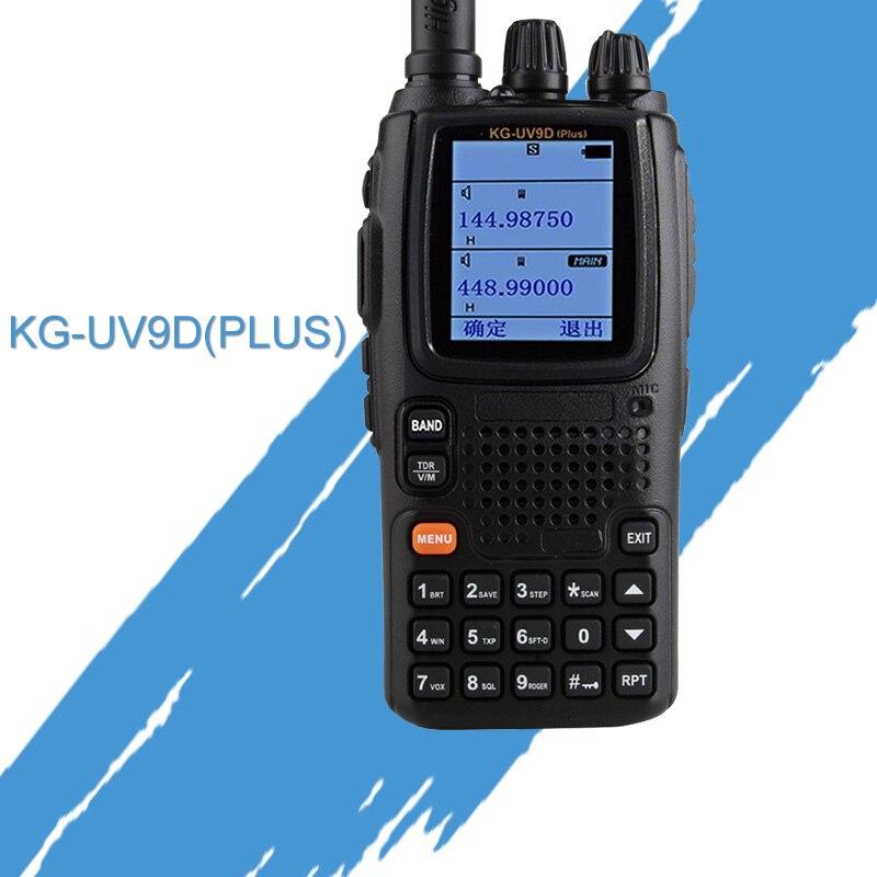 General Walkie Talkie para WOUXUN KG-UV9D VHF136-174MHz y UHF400-512MHz Radio de banda Dual (Duplex) doble bandas TX siete bandas RX