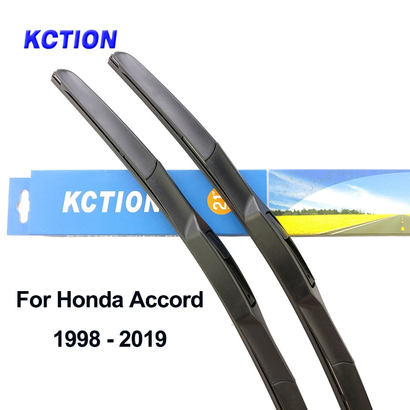 Escobilla limpiaparabrisas híbrida para Honda Accord, limpiaparabrisas trasero de goma natural, accesorios para coches 2003 2007 2008 2009 2019