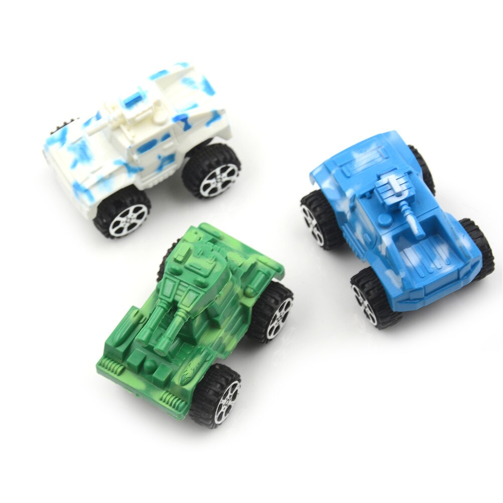 Children's Plastic Puzzle Pull Back Vehicle Diecasts Military War Mini Tank Model Car Classic Toy For Baby Gift