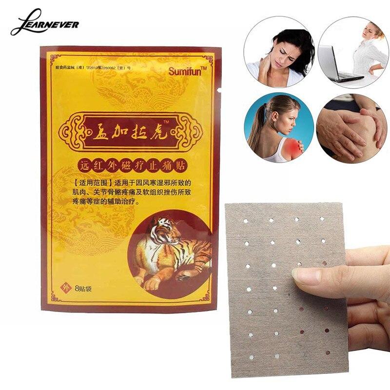 Atrações 8 pcs Tiger Balm Patch Dor Chinês Kits Médicos Dor Da Artrite Reumatismo Muscular Dor Nas Articulações Do Pescoço Massageador