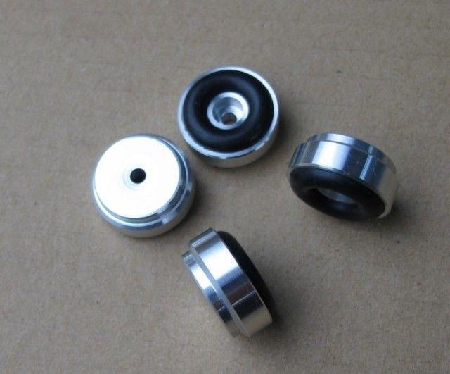 Hifi store nuevo 4x feets de aluminio para amplificador de potencia (con anillo de goma) D 20mm H 9mm