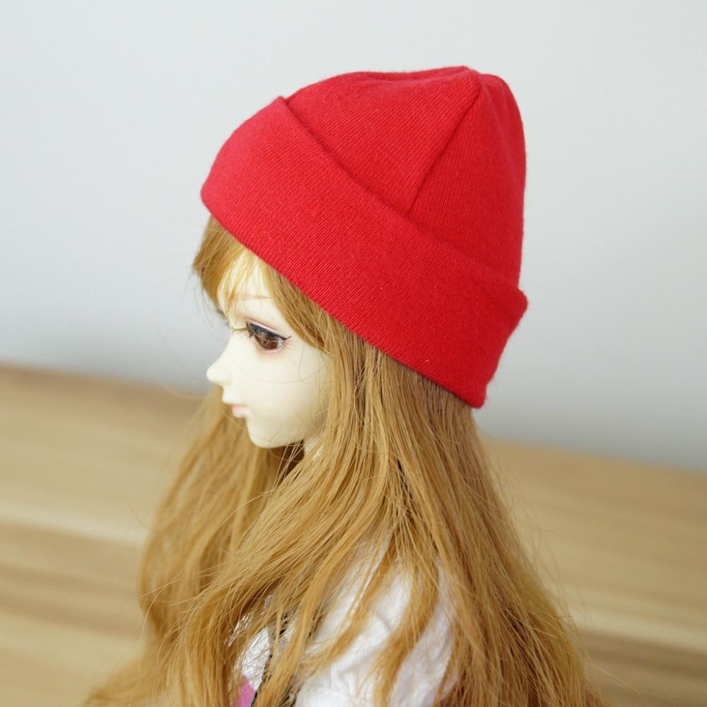 "BJD Red Cap Hat Beanie For 1/6 11"" 1/4 17"" 1/3 24"" 60CM Tall BJD doll SD MSD YOSD DK DZ AOD DD Doll use free shipping HEDUOEP"