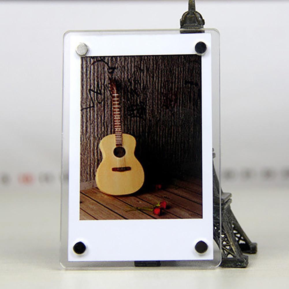 1 pc geladeira ímã adesivos polaroid criativo impressora do telefone móvel foto acrílico quadro casa decroação geladeira adesivos